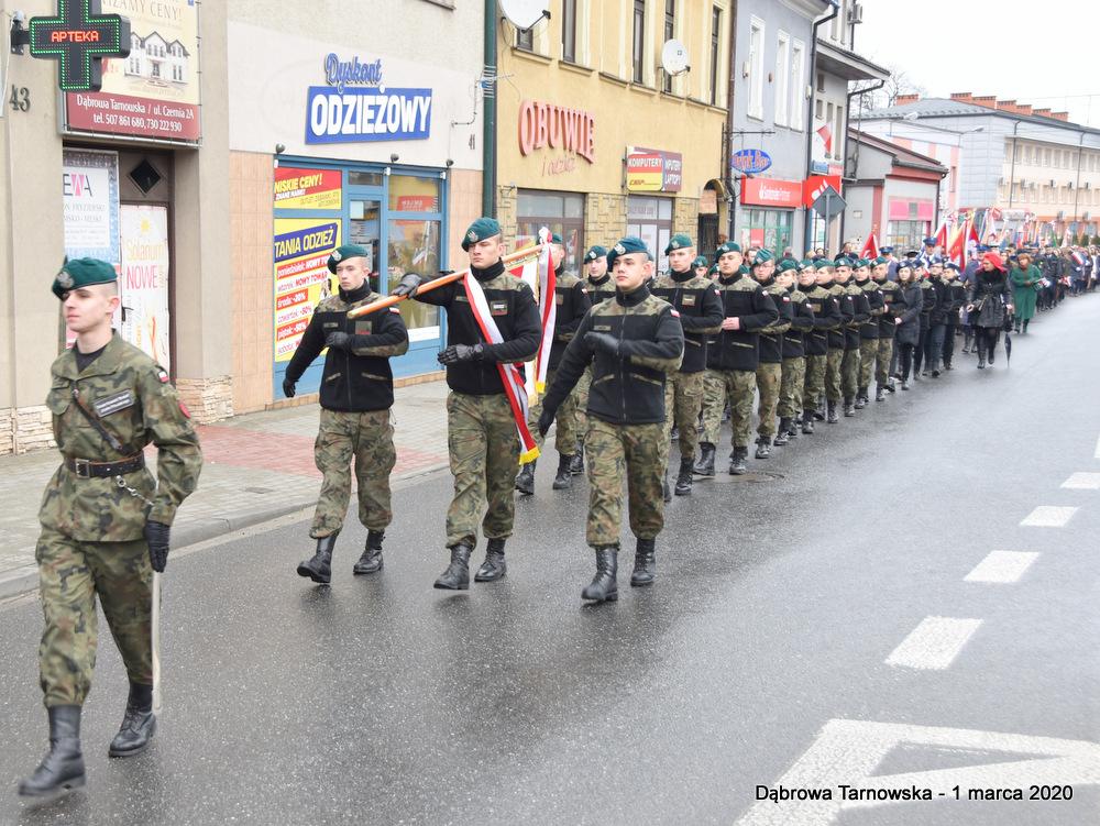06 NDPŻW 1marca2020 13 Udział Gminy Dąbrowa Tarnowska w Powiatowych Obchodach Dnia Pamięci Żołnierzy Wyklętych