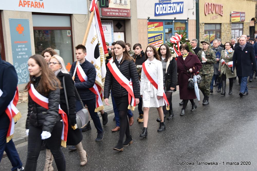 11 NDPŻW 1marca2020 21 Udział Gminy Dąbrowa Tarnowska w Powiatowych Obchodach Dnia Pamięci Żołnierzy Wyklętych