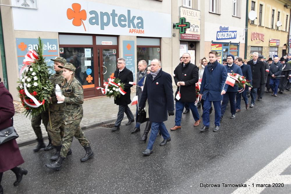 12 NDPŻW 1marca2020 22 Udział Gminy Dąbrowa Tarnowska w Powiatowych Obchodach Dnia Pamięci Żołnierzy Wyklętych