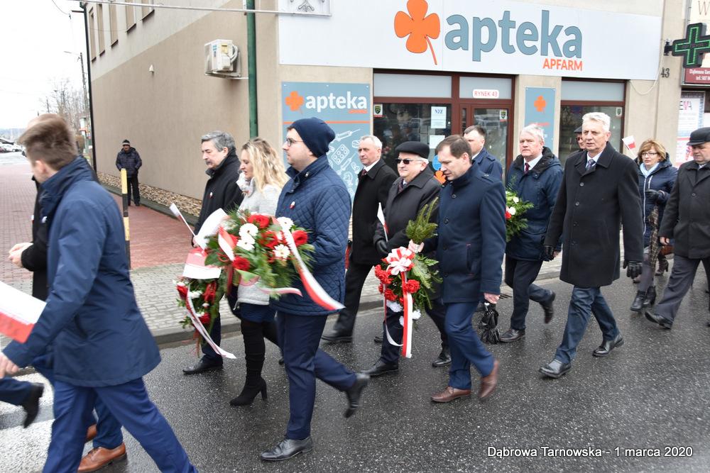 13 NDPŻW 1marca2020 28 Udział Gminy Dąbrowa Tarnowska w Powiatowych Obchodach Dnia Pamięci Żołnierzy Wyklętych