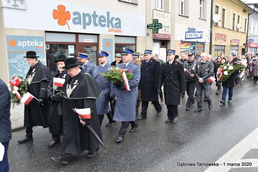 14 NDPŻW 1marca2020 34 Udział Gminy Dąbrowa Tarnowska w Powiatowych Obchodach Dnia Pamięci Żołnierzy Wyklętych