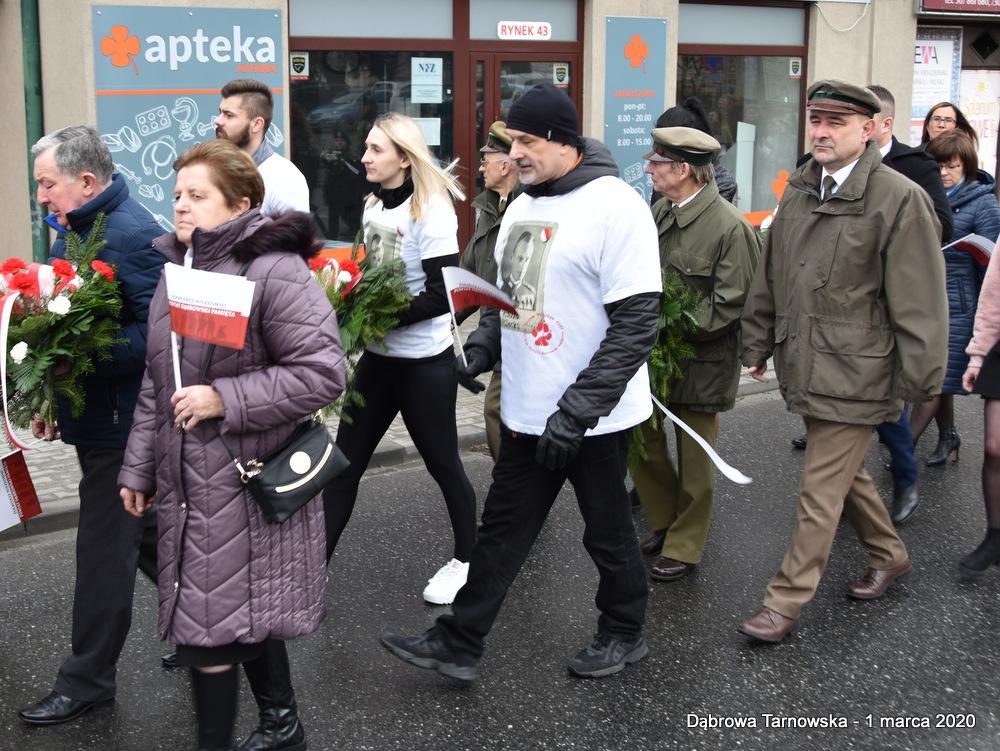 16 NDPŻW 1marca2020 37 Udział Gminy Dąbrowa Tarnowska w Powiatowych Obchodach Dnia Pamięci Żołnierzy Wyklętych