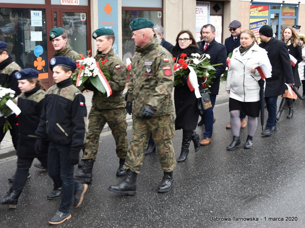 17 NDPŻW 1marca2020 39 Udział Gminy Dąbrowa Tarnowska w Powiatowych Obchodach Dnia Pamięci Żołnierzy Wyklętych