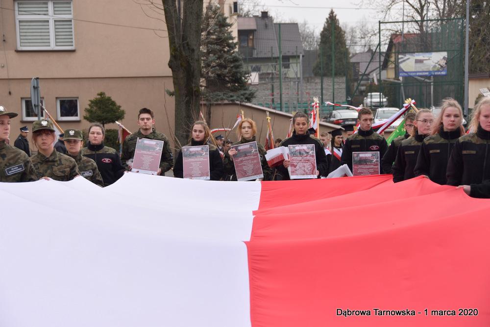 18 NDPŻW 1marca2020 43 Udział Gminy Dąbrowa Tarnowska w Powiatowych Obchodach Dnia Pamięci Żołnierzy Wyklętych