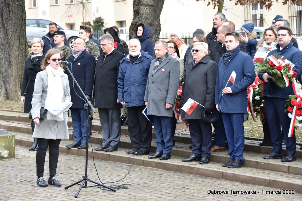 20 NDPŻW 1marca2020 49 Udział Gminy Dąbrowa Tarnowska w Powiatowych Obchodach Dnia Pamięci Żołnierzy Wyklętych