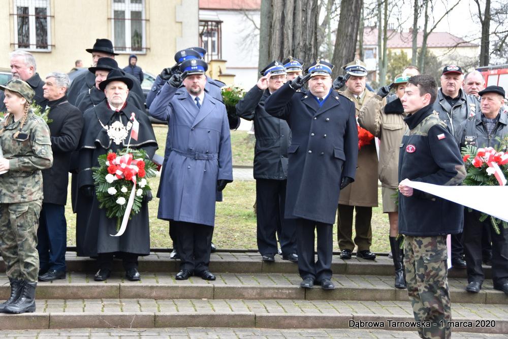22 NDPŻW 1marca2020 51 Udział Gminy Dąbrowa Tarnowska w Powiatowych Obchodach Dnia Pamięci Żołnierzy Wyklętych
