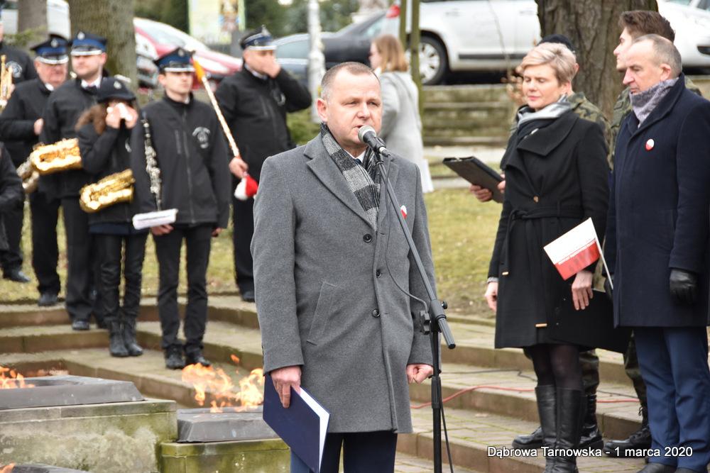 23 NDPŻW 1marca2020 53 Udział Gminy Dąbrowa Tarnowska w Powiatowych Obchodach Dnia Pamięci Żołnierzy Wyklętych