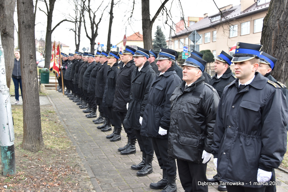 25 NDPŻW 1marca2020 59 Udział Gminy Dąbrowa Tarnowska w Powiatowych Obchodach Dnia Pamięci Żołnierzy Wyklętych