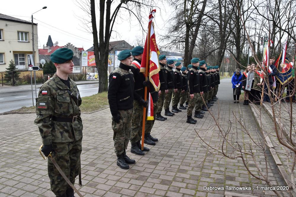 26 NDPŻW 1marca2020 60 Udział Gminy Dąbrowa Tarnowska w Powiatowych Obchodach Dnia Pamięci Żołnierzy Wyklętych