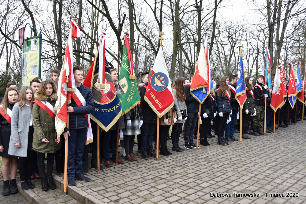 27 NDPŻW 1marca2020 61 Udział Gminy Dąbrowa Tarnowska w Powiatowych Obchodach Dnia Pamięci Żołnierzy Wyklętych