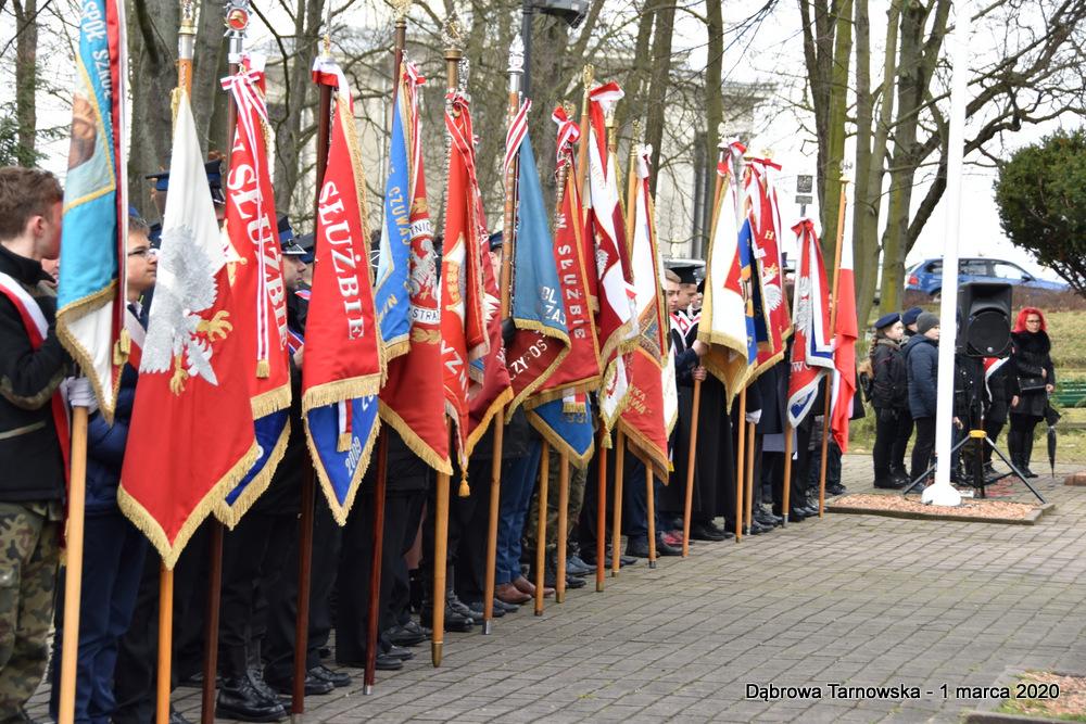 28 NDPŻW 1marca2020 62 Udział Gminy Dąbrowa Tarnowska w Powiatowych Obchodach Dnia Pamięci Żołnierzy Wyklętych
