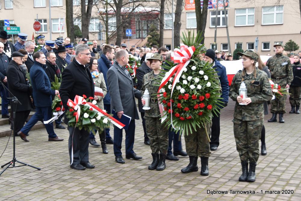 29 NDPŻW 1marca2020 65 Udział Gminy Dąbrowa Tarnowska w Powiatowych Obchodach Dnia Pamięci Żołnierzy Wyklętych