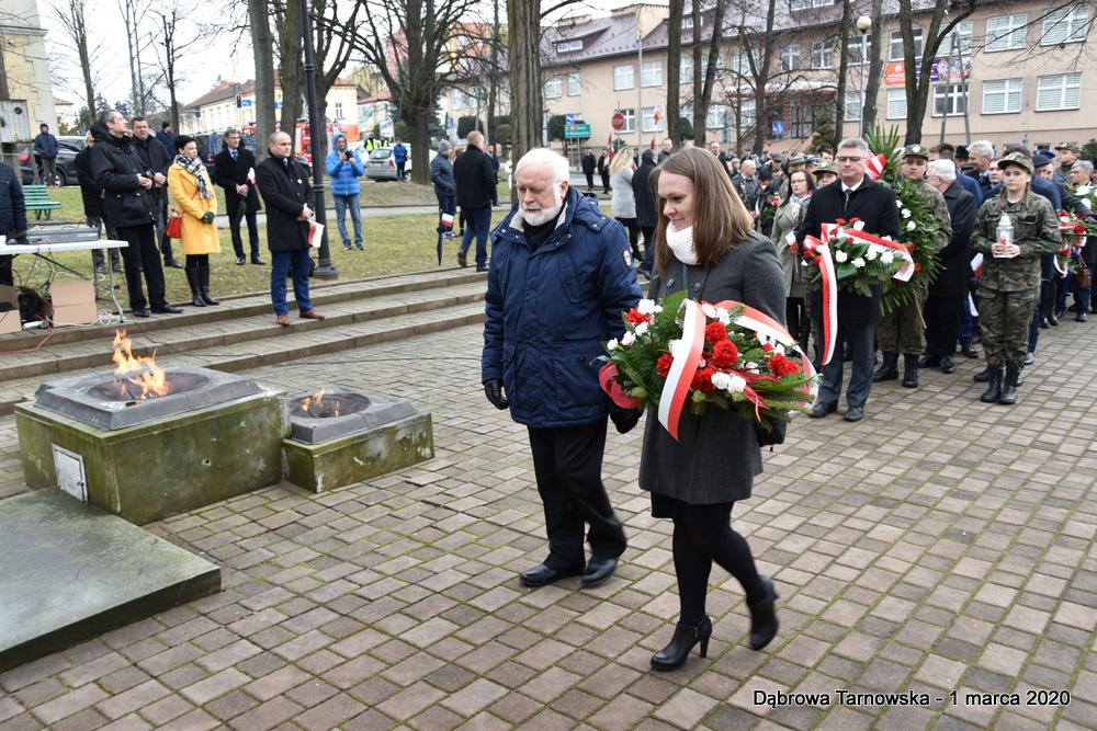 30 NDPŻW 1marca2020 66 Udział Gminy Dąbrowa Tarnowska w Powiatowych Obchodach Dnia Pamięci Żołnierzy Wyklętych