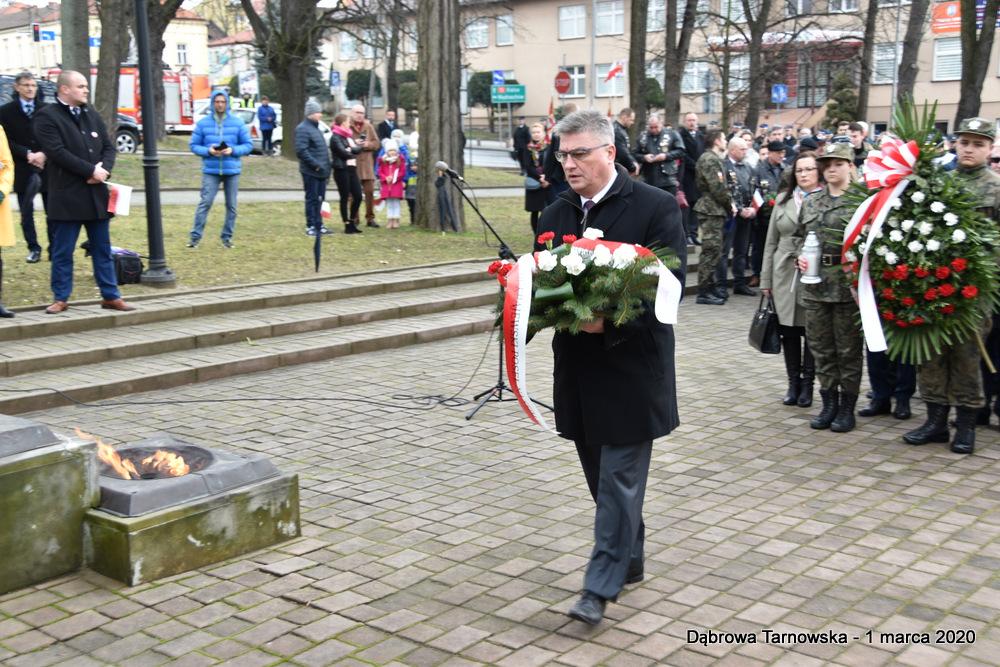 31 NDPŻW 1marca2020 67 Udział Gminy Dąbrowa Tarnowska w Powiatowych Obchodach Dnia Pamięci Żołnierzy Wyklętych