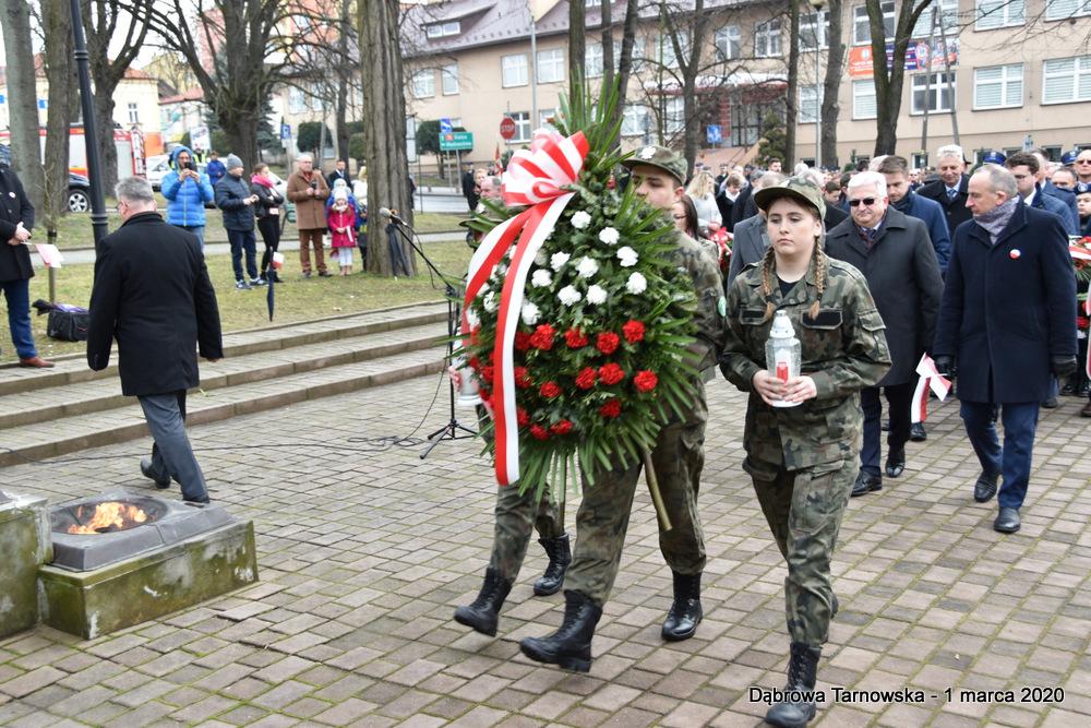 32 NDPŻW 1marca2020 68 Udział Gminy Dąbrowa Tarnowska w Powiatowych Obchodach Dnia Pamięci Żołnierzy Wyklętych