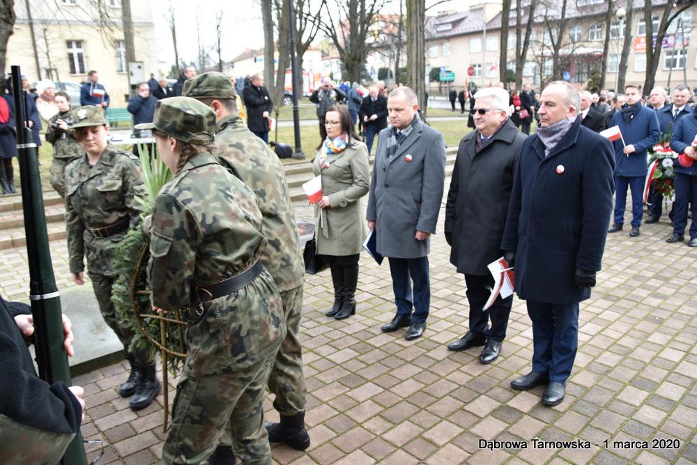 33 NDPŻW 1marca2020 70 Udział Gminy Dąbrowa Tarnowska w Powiatowych Obchodach Dnia Pamięci Żołnierzy Wyklętych