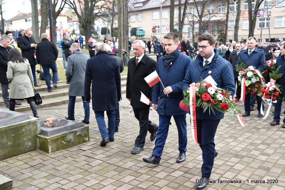 34 NDPŻW 1marca2020 71 Udział Gminy Dąbrowa Tarnowska w Powiatowych Obchodach Dnia Pamięci Żołnierzy Wyklętych