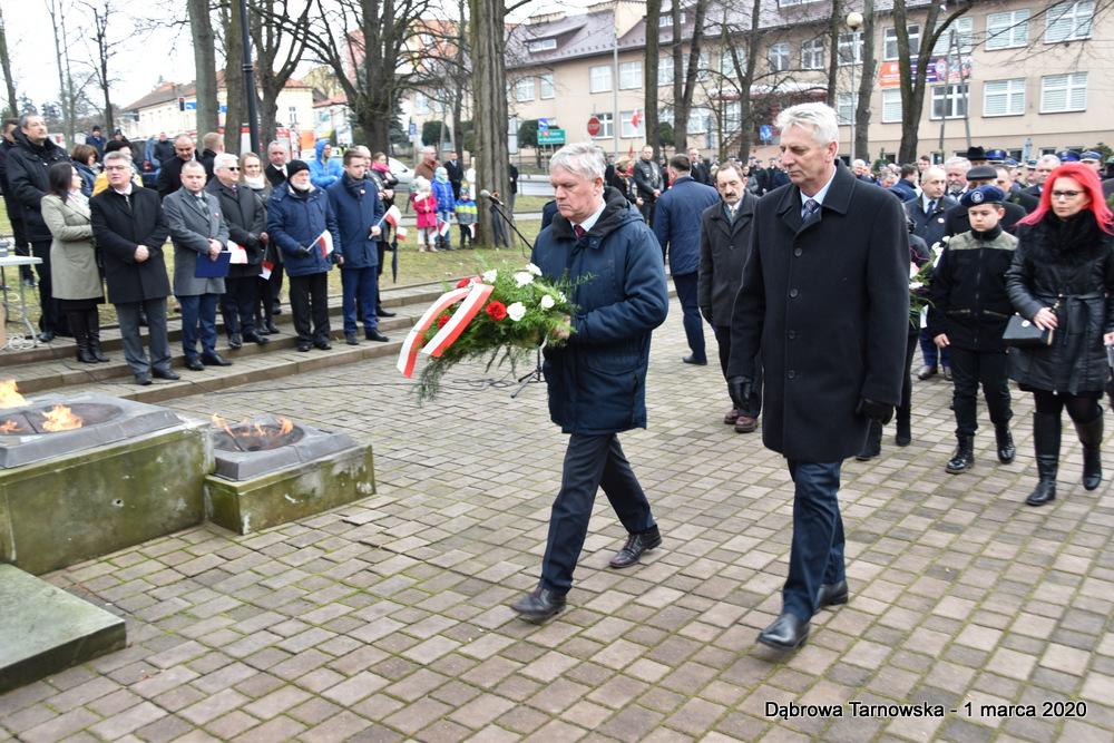 35 NDPŻW 1marca2020 74 Udział Gminy Dąbrowa Tarnowska w Powiatowych Obchodach Dnia Pamięci Żołnierzy Wyklętych