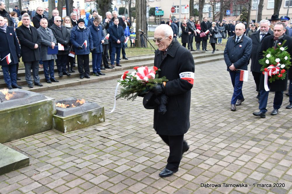 37 NDPŻW 1marca2020 78 Udział Gminy Dąbrowa Tarnowska w Powiatowych Obchodach Dnia Pamięci Żołnierzy Wyklętych