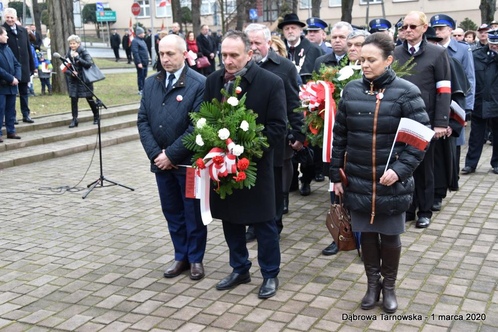38 NDPŻW 1marca2020 79 Udział Gminy Dąbrowa Tarnowska w Powiatowych Obchodach Dnia Pamięci Żołnierzy Wyklętych