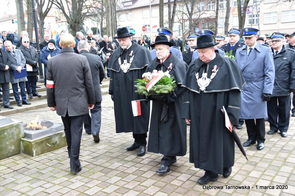 39 NDPŻW 1marca2020 83 Udział Gminy Dąbrowa Tarnowska w Powiatowych Obchodach Dnia Pamięci Żołnierzy Wyklętych