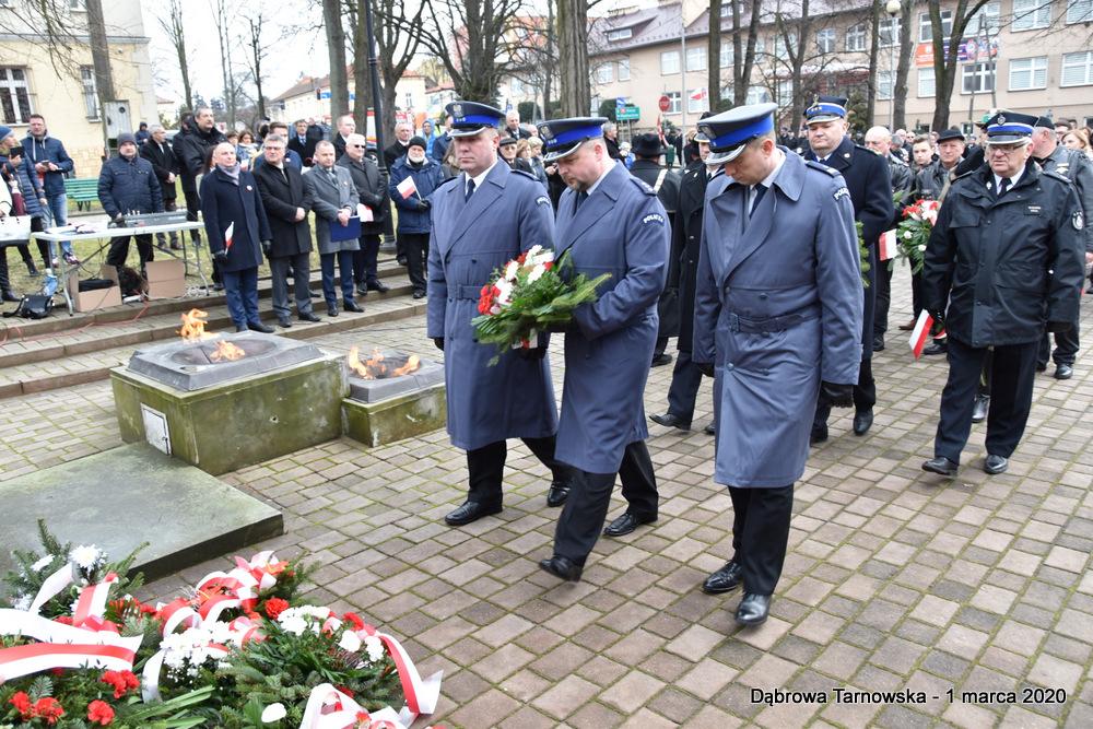 40 NDPŻW 1marca2020 84 Udział Gminy Dąbrowa Tarnowska w Powiatowych Obchodach Dnia Pamięci Żołnierzy Wyklętych