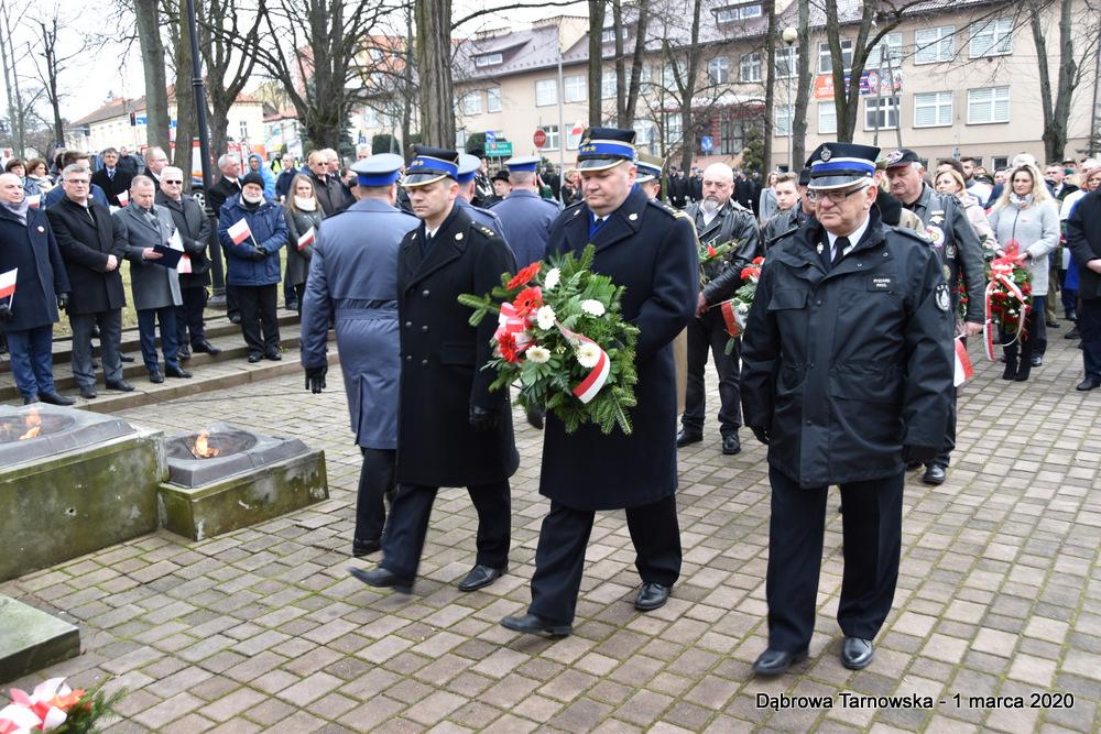 41 NDPŻW 1marca2020 85 Udział Gminy Dąbrowa Tarnowska w Powiatowych Obchodach Dnia Pamięci Żołnierzy Wyklętych