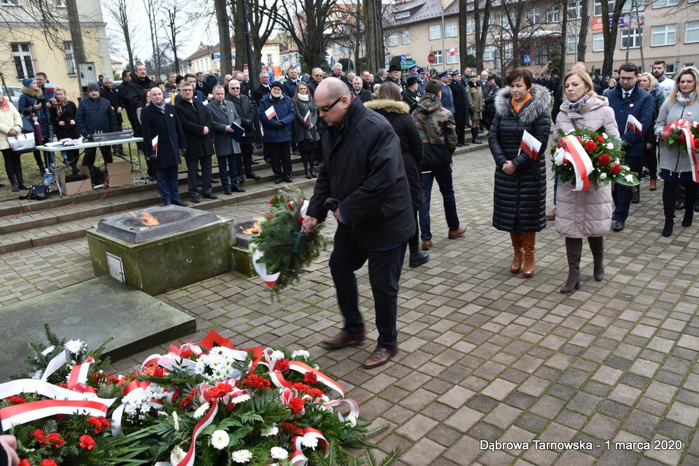 42 NDPŻW 1marca2020 89 Udział Gminy Dąbrowa Tarnowska w Powiatowych Obchodach Dnia Pamięci Żołnierzy Wyklętych
