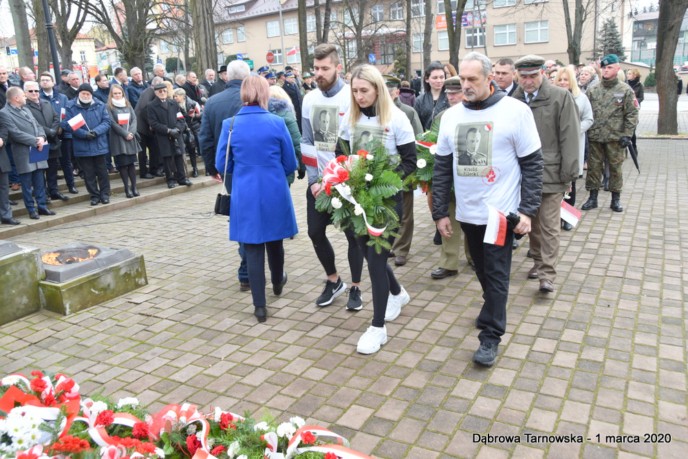 43 NDPŻW 1marca2020 96 Udział Gminy Dąbrowa Tarnowska w Powiatowych Obchodach Dnia Pamięci Żołnierzy Wyklętych