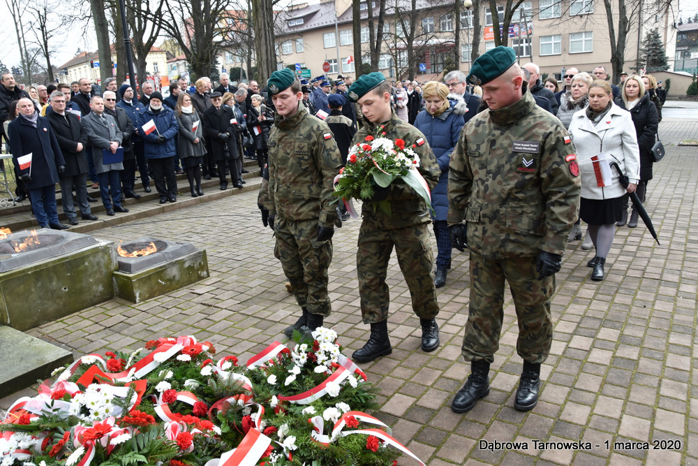 44 NDPŻW 1marca2020 103 Udział Gminy Dąbrowa Tarnowska w Powiatowych Obchodach Dnia Pamięci Żołnierzy Wyklętych