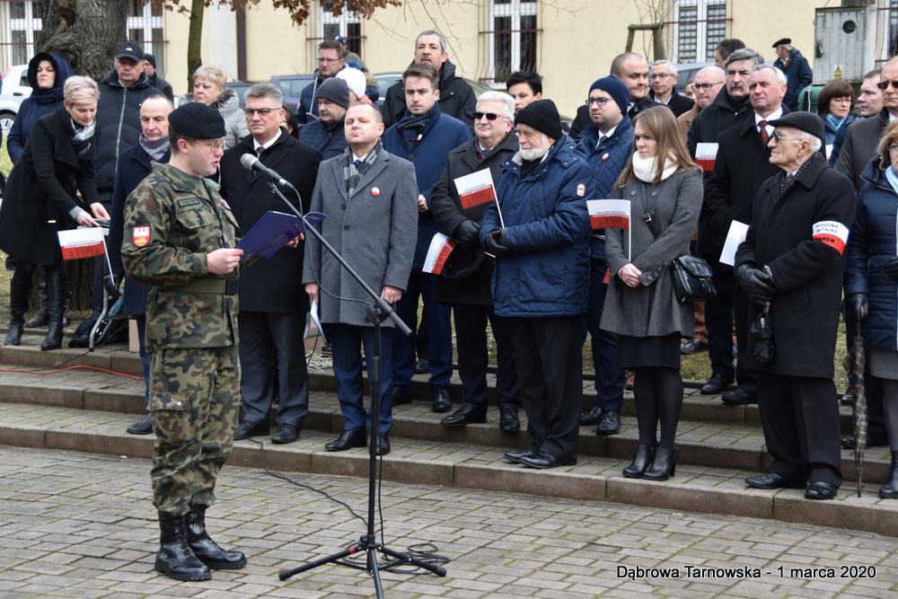 45 NDPŻW 1marca2020 112 Udział Gminy Dąbrowa Tarnowska w Powiatowych Obchodach Dnia Pamięci Żołnierzy Wyklętych