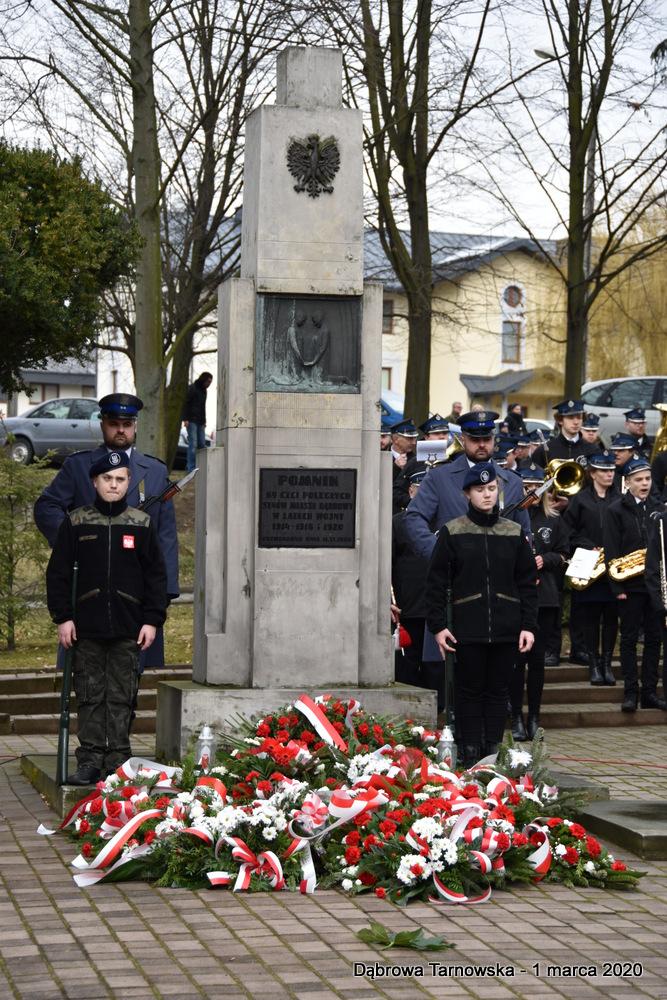 46 NDPŻW 1marca2020 115 Udział Gminy Dąbrowa Tarnowska w Powiatowych Obchodach Dnia Pamięci Żołnierzy Wyklętych