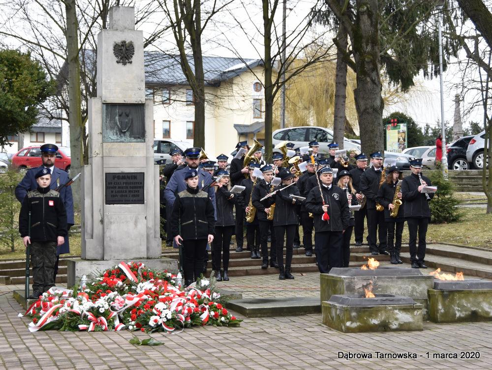 47 NDPŻW 1marca2020 117 Udział Gminy Dąbrowa Tarnowska w Powiatowych Obchodach Dnia Pamięci Żołnierzy Wyklętych