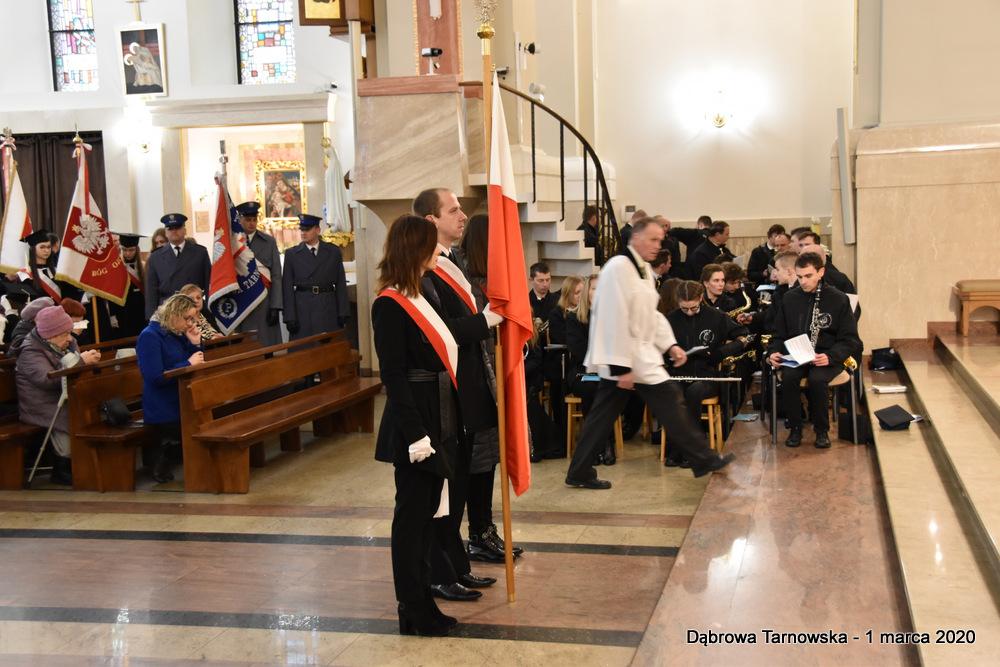 48 NDPŻW 1marca2020 119 Udział Gminy Dąbrowa Tarnowska w Powiatowych Obchodach Dnia Pamięci Żołnierzy Wyklętych
