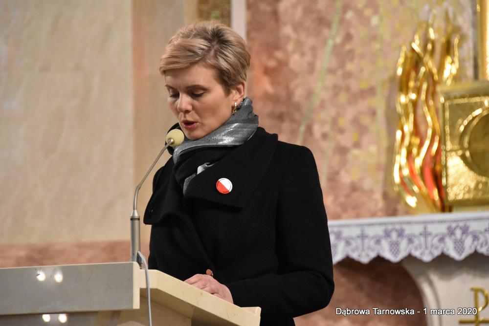 52 NDPŻW 1marca2020 126 Udział Gminy Dąbrowa Tarnowska w Powiatowych Obchodach Dnia Pamięci Żołnierzy Wyklętych