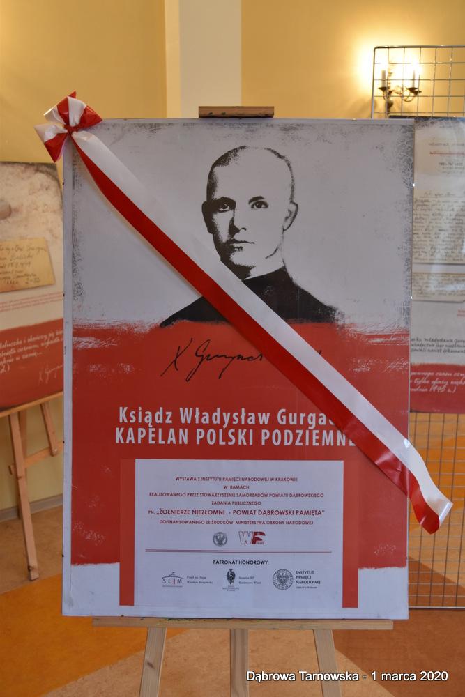 64 NDPŻW 1marca2020 158 Udział Gminy Dąbrowa Tarnowska w Powiatowych Obchodach Dnia Pamięci Żołnierzy Wyklętych