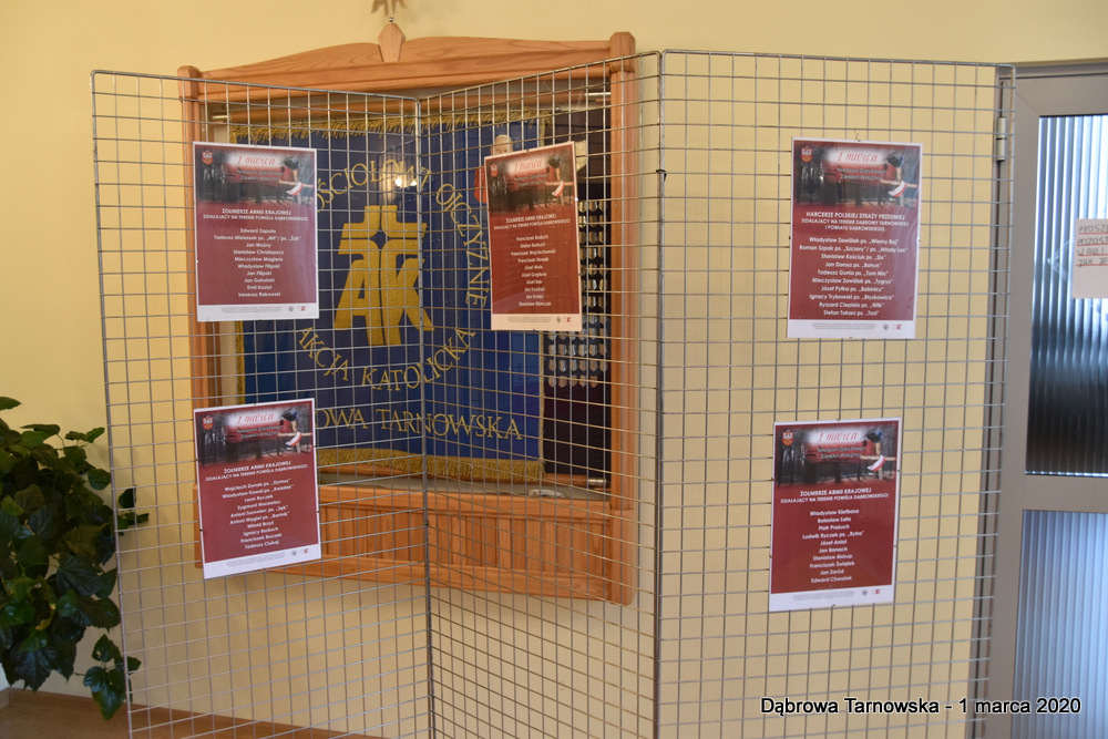 68 NDPŻW 1marca2020 162 Udział Gminy Dąbrowa Tarnowska w Powiatowych Obchodach Dnia Pamięci Żołnierzy Wyklętych