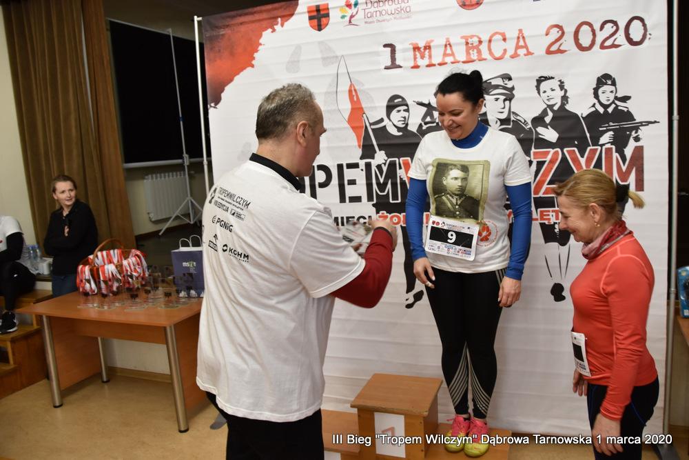 """Bieg Tropem Wilczym Dabrowa Tarnowska 2020 70 Dąbrowski Bieg Pamięci Żołnierzy Wyklętych """"Tropem Wilczym"""" 2020"""
