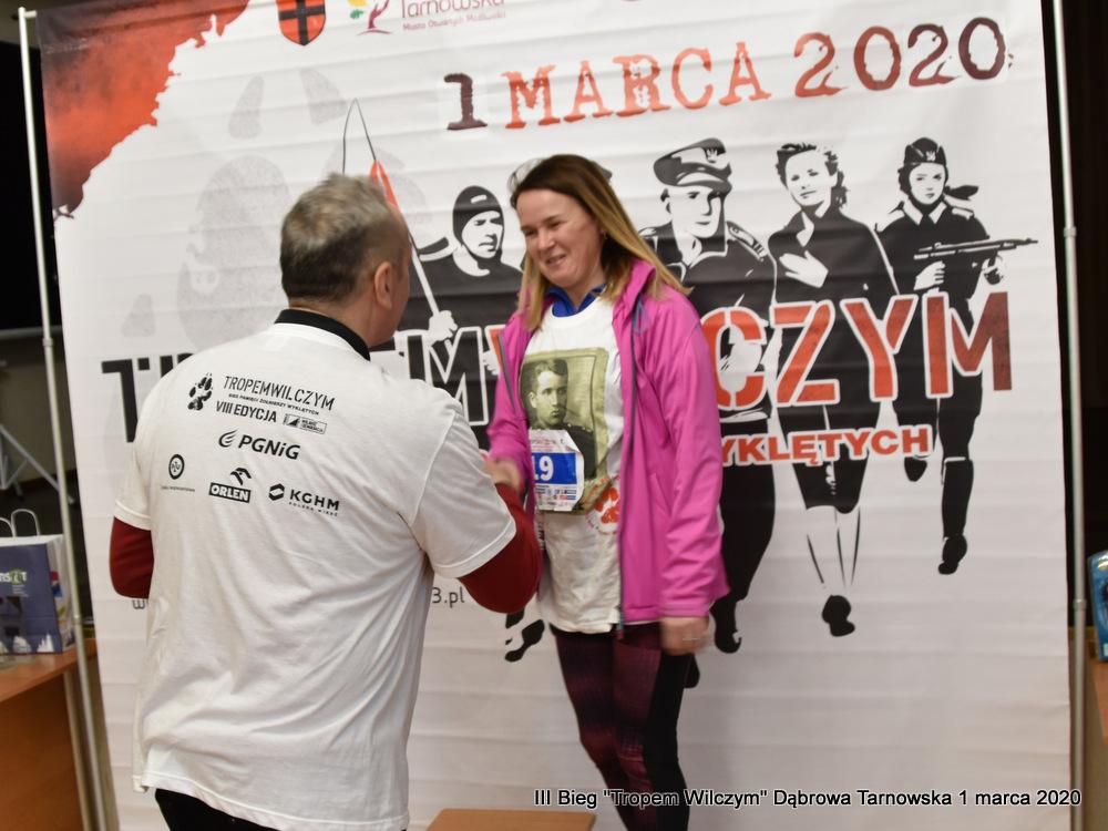 """Bieg Tropem Wilczym Dabrowa Tarnowska 2020 78 Dąbrowski Bieg Pamięci Żołnierzy Wyklętych """"Tropem Wilczym"""" 2020"""
