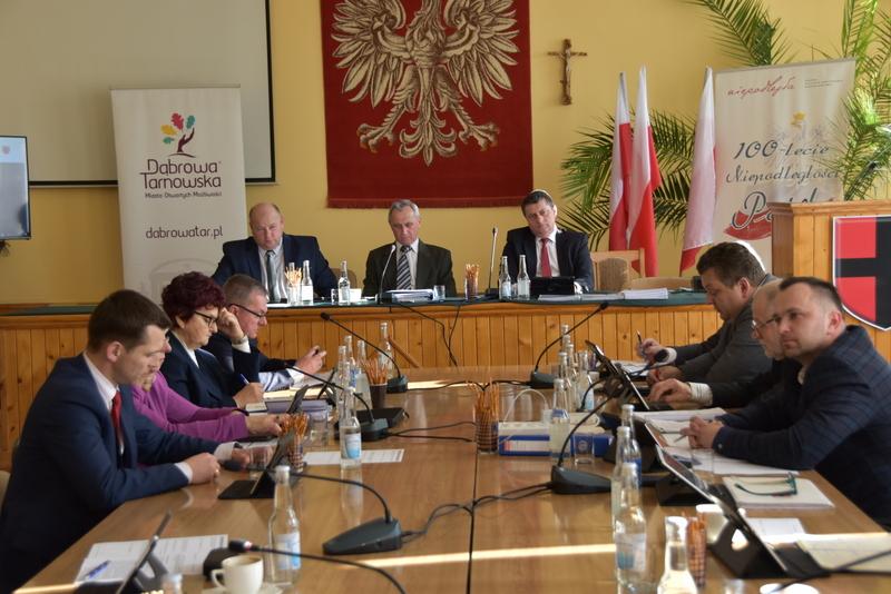 DSC 0278 XIX sesja Rady  Miejskiej w Dąbrowie Tarnowskiej