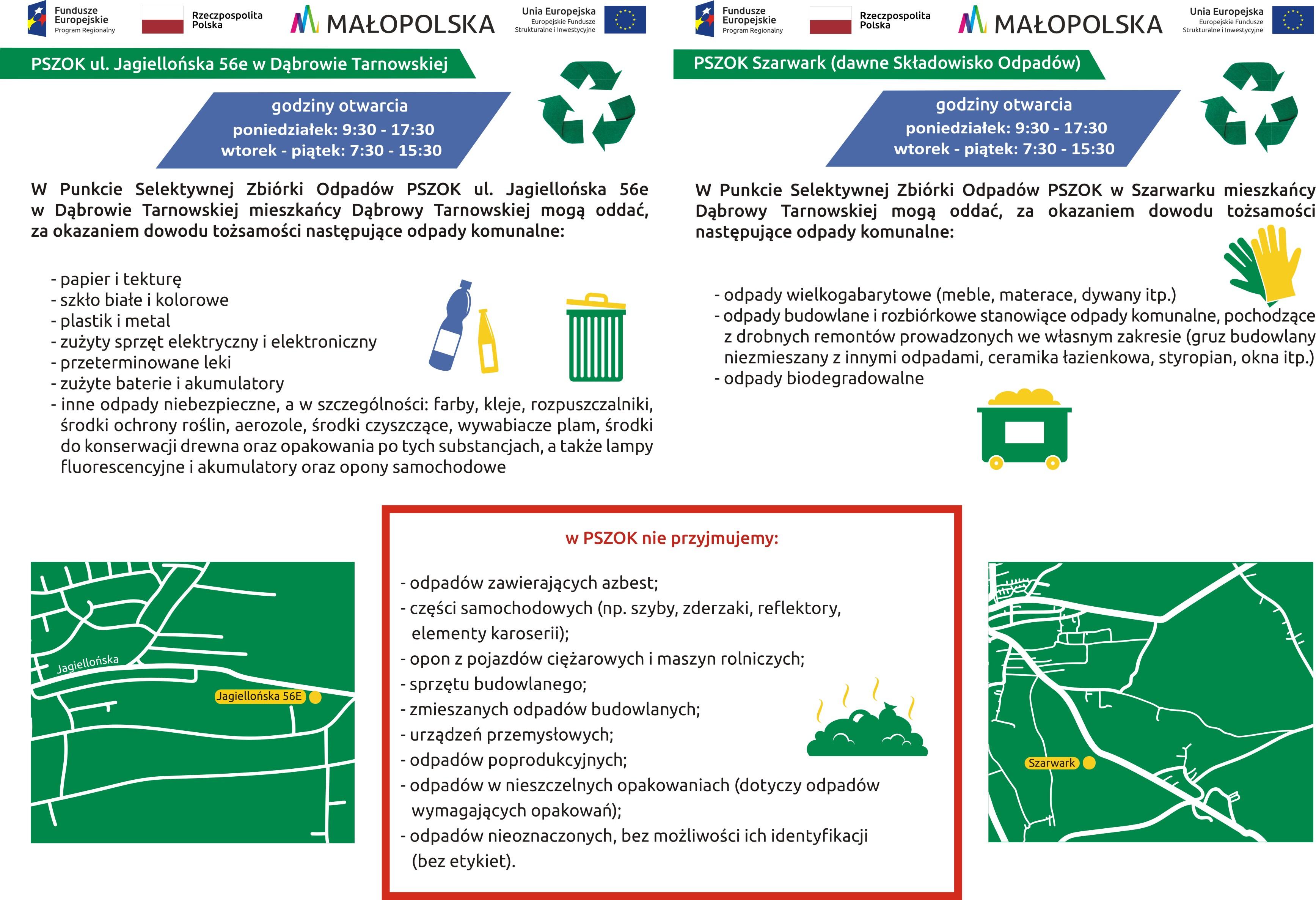 ulotka a5 15 10 2019  Przebudowano Punkty Selektywnej Zbiórki Odpadów Komunalnych w Gminie Dąbrowa Tarnowska