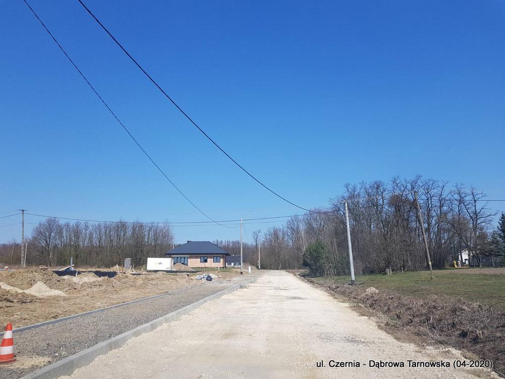 1 ul Czernia Dąbrowa Tarnowska IV 2020 2 Trwają prace przy przebudowie ulicy Czernia