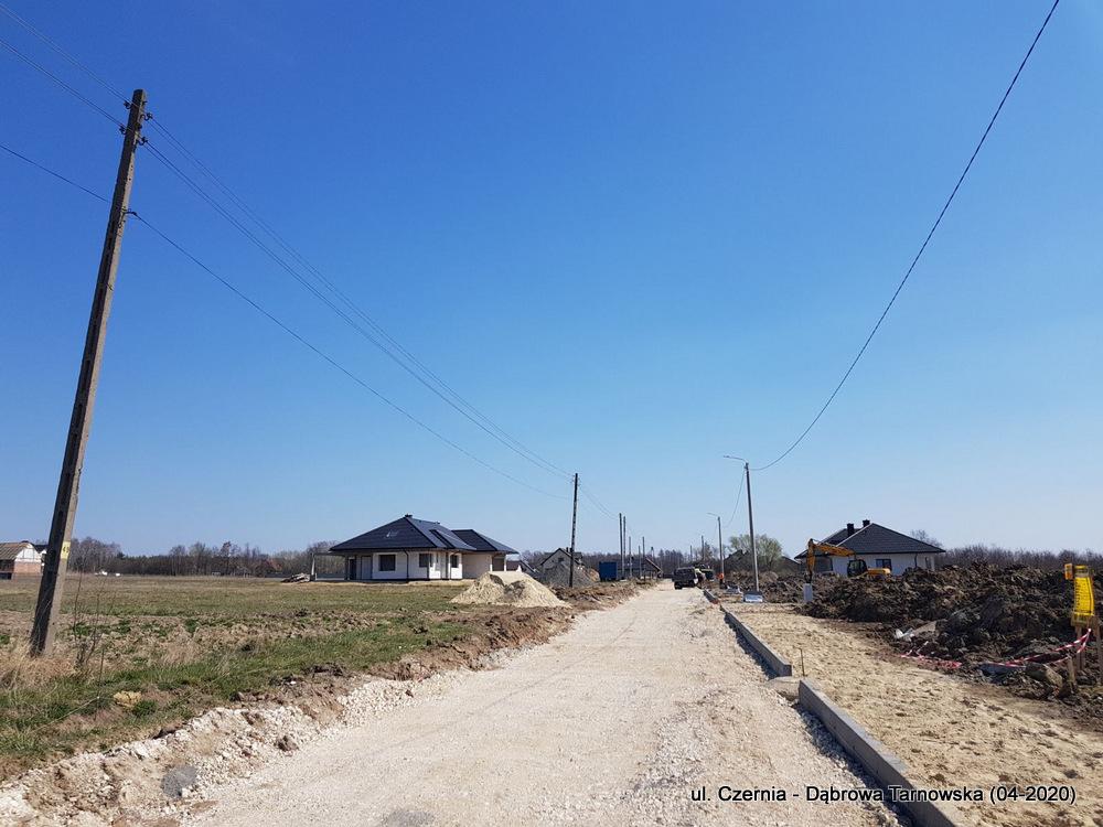 2 ul Czernia Dąbrowa Tarnowska IV 2020 1 Trwają prace przy przebudowie ulicy Czernia