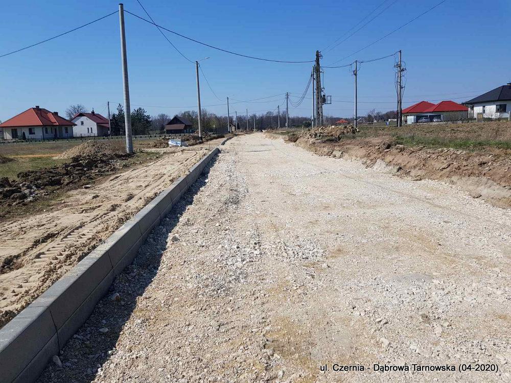 4 ul Czernia Dąbrowa Tarnowska IV 2020 4 Trwają prace przy przebudowie ulicy Czernia