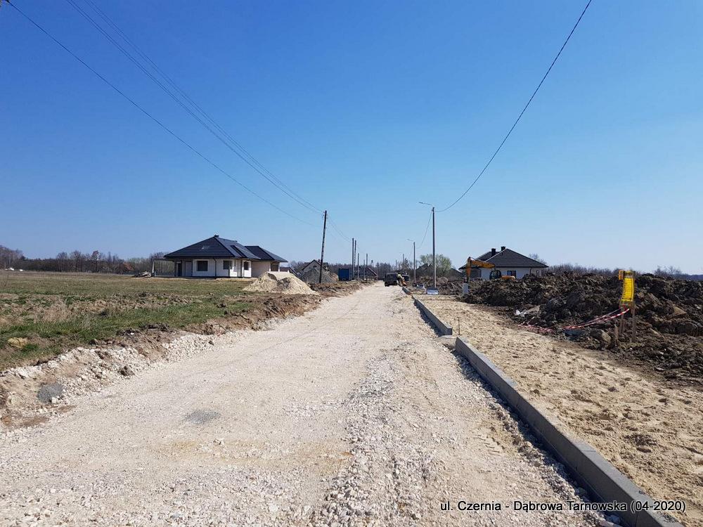 6 ul Czernia Dąbrowa Tarnowska IV 2020 7 Trwają prace przy przebudowie ulicy Czernia