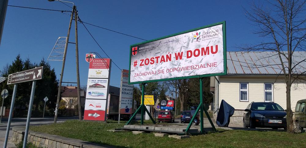 Narodowa kwarantanna Dąbrowa Tarnowska 2020 11 Podziękowania za działania wspierające walkę z COVID 19