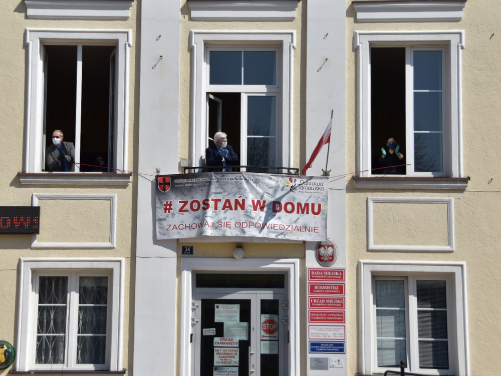 Narodowa kwarantanna Dąbrowa Tarnowska 2020 14 Podziękowania za działania wspierające walkę z COVID 19