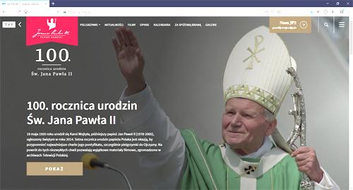 JP2 tvp pl Setna rocznica urodzin św. Jana Pawła II