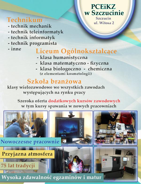 Oferta PCiKZ Zapraszamy absolwentów szkół podstawowych do skorzystania z ofert szkół średnich na Powiślu Dąbrowskim