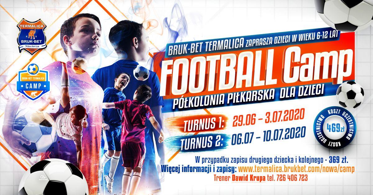 termalica camp 2020 fb event Półkolonia piłkarska Bruk Bet Termalica Football Camp
